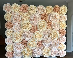 Flower Wall Backdrop, Wall Backdrops, Floral Backdrop, Photo Booth Backdrop, Big Paper Flowers, Paper Peonies, Blush Flowers, Flower Wall Wedding, Rose Wedding