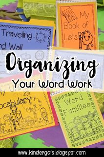 How I organize my morning word work schedule. This blog post shows how I organize my daily word work using a carpet bag. Perfect for kindergarten.