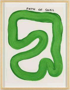 David Shrigley; Untitled (Path of Snail), 2014.