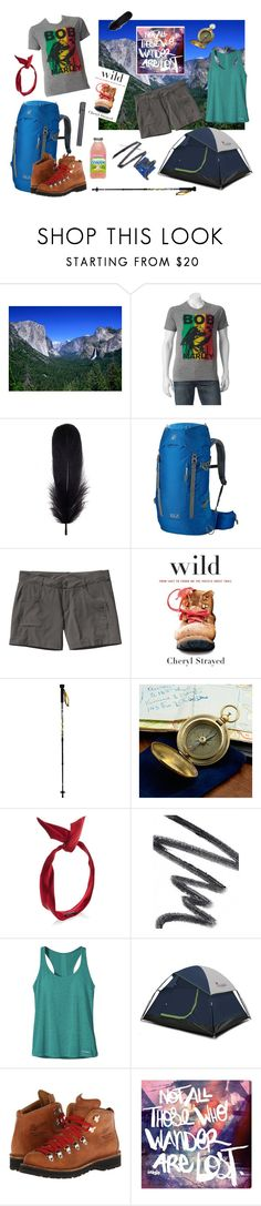"""""""STRAYED"""" by sagirl on Polyvore featuring Mineheart, Jack Wolfskin, Patagonia, Mountainsmith, yunotme, Chantecaille, Danner and Oliver Gal Artist Co."""