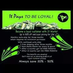 If you are interested in any of our products you can text me at 423 599-1815 or visit my websit at  cballinger.myitworks.com