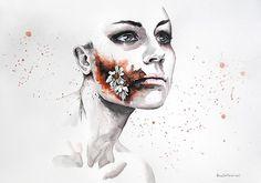 Kadına Şiddet ve Hüznü Resmeden Dal Maso'dan Düşündürecek İllüstrasyonlar Sanatlı Bi Blog 16
