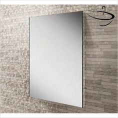 HIB Bathroom Mirrors - Triumph 50 Mirror 70 x 50 x Rectangular Bathroom Mirror, Bathroom Mirrors, Shower Fittings, Minimal Decor, Mirror With Lights, Visual Effects, Modern Bathroom, Wall Tiles, Oversized Mirror