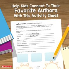 Help your child get to know the person behind the pen with this activity.