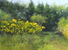 """Up On The Hill by Kathy McDonnell Pastel ~ 9"""" x 12"""""""