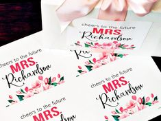 Custom Future Mrs Engagement Gift Box Wedding Labels, Soon To Be Mrs Gable Box Stickers, Wedding Hotel Bags, Wedding Tags, Wedding Favors For Guests, Wedding Labels, Our Wedding, Engagement Gift Boxes, Gable Boxes, Personalized Stickers, Wedding Stickers