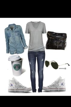 White chucks outfit, black chucks, outfits with converse, white converse, b Outfits Chucks, White Chucks Outfit, Mode Outfits, Fall Outfits, Summer Outfits, Casual Outfits, Fashion Outfits, Black Chucks, White Converse