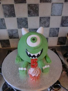 Mike Wazowski hemisphere cake (monsters inc, monsters university)