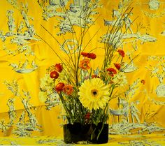 "Aalto Yellow by Ben Schonzeit; 1985. acrylic on canvas, 60"" X 66"""