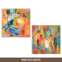 Agatha Bird Canvas Art Print, Set of 2