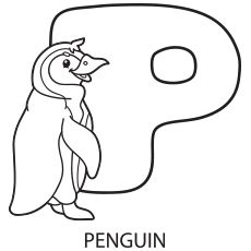 Alphabet Letter P Coloring Page To Print