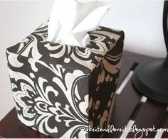 Allergy season is upon us! Here is a nice Tissue Box Cover Sewing Tutorial.