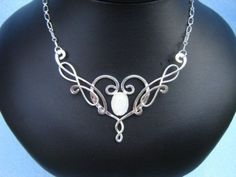 Ithildin Necklace Elven Celtic Medieval Bridal Wedding Pendant