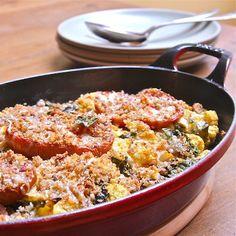 Cauliflower & Tomato Gratin: #SundaySupper