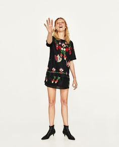 EMBROIDERED SHORT DRESS-View All-DRESSES-WOMAN | ZARA United States