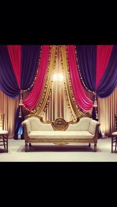 M Desi Wedding Decor, Wedding Stage Decorations, Backdrop Decorations, Backdrops, Pakistani Mehndi Decor, Mehendi, Fabric Backdrop, Backdrop Design, Arabian Party
