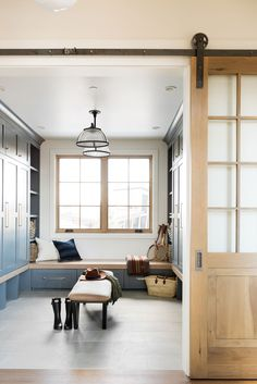 SM Ranch House: The Mudroom, Laundry Room, and Powder Bath Vestibule, Mudroom Laundry Room, Rustic Home Interiors, Rustic Homes, Large Furniture, My New Room, Decoration, New Homes, House Design