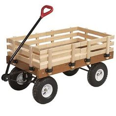 Wooden Wagon For the babies to go down the isle :)