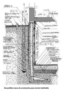 17 Templates for Common Construction Systems to Help you Materialize Your Projects,Courtesy of Luis Pablo Barros and Gustavo Sarabia Concrete Bricks, Concrete Structure, Architecture Drawings, Architecture Details, Circle House, Revit, Best Modern House Design, Pool Construction, Detailed Drawings