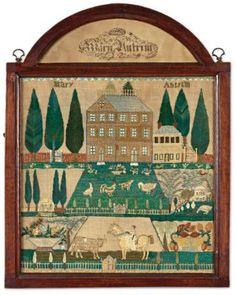 Mary Antrim needlework sampler
