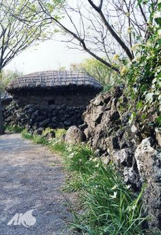 Traditional house in #Jeju island, Korea