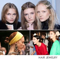 - Photos: Courtesy of Rodarte, Courtesy of Davines,David X Prutting/BFAEmbellishing your 'do is more popular than ever. Whether you prefer a simple headband or dramatic jewels to amp up your look this season, the trend is customizableenough to suit any taste level.