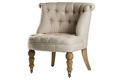 Cassia Slipper Chair, Oatmeal