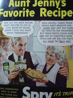 ~~Aunt Jenny's Favorite Recipes Spry Cookbook~~