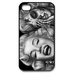 Marilyn Monroe Skull Face Zombie Photo iPhone 4/4s Case Back Case for iphone 4/4s - After putting the case on your iphone, your iphone will look appealing because of the nice photo on the case, and it can allow very easy access to all buttons, it wil
