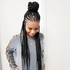 My beautiful client opt for this braid style. What do you think … ello naturals! My beautiful client opt for this braid style. What do you think ladies? Would you wear it? African Braids Hairstyles, Protective Hairstyles, Braided Hairstyles, Protective Styles, Black Girl Braids, Girls Braids, Summer Hairstyles, Girl Hairstyles, Beautiful Braids