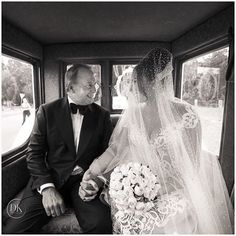 Father daughter moment   black and white wedding photography   gown/veil @jatoncouture   photography @xsightsydney