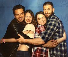 Seb and Chris with fans at Wizard World Philadelphia