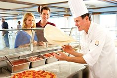 Princess Cruise casual dining, Pizza!