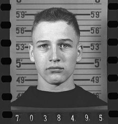 Paul Newman's U.S. Navy intake identification photograph contact print (ca. 1943)