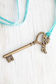 Large Heart Skeleton Key & Love