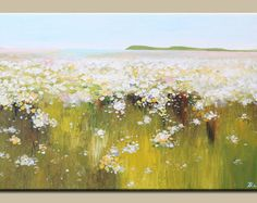 acrílico pintura abstracta arte-flores pintura-paisaje