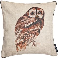 Joanna Allsop - Wise Owl Cushion (305 RON) ❤ liked on Polyvore featuring home, home decor, throw pillows, owl throw pillow, owl home accessories, black home decor, black accent pillows and owl home decor
