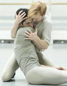 Steven McRae and Federico Bonelli in rehearsals for the Royal Ballet's production of Frankenstein. Photo: Andrej Uspenski/Royal Opera House