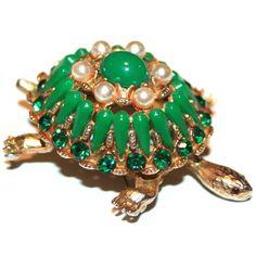 Garland Collects #vintage HAR Turtle Brooch