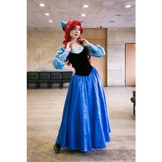 Ariel blue dress Cosplay Disney Princess Halloween costume for Adult ($492) ❤ liked on Polyvore featuring costumes, adult ariel costume, ariel halloween costume, princess costumes, adult princess halloween costumes and adult role play costumes