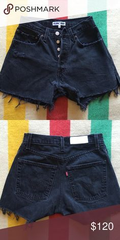 RE/DONE jeans . Vintage high waisted black shorts These are a size 24 . They have never been worn . High waisted , vintage Levi's . re/done Shorts Jean Shorts