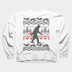 Squatchin For Love Ugly Sweater Style Crewneck By Garaga Design By Humans