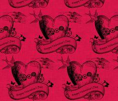 Valentine's Day Fabric - Steampunked Valentines Day!!