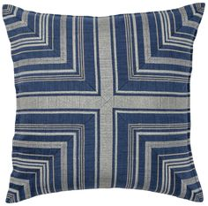 Find decorative pillows and more from Coral & Tusk. Shop unique embroidered linen accent and throw pillows to add style and comfort to your home. Pillow Drawing, Nautical Bedding, Nautical Design, Patchwork Designs, Designer Pillow, Linen Fabric, Decorative Pillows, Indigo, Pillow Covers