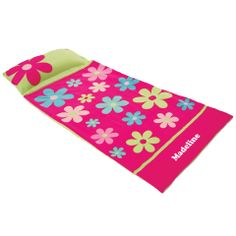 Personalised Sleeping Bag Flower Polar Fleece, Birthday Invitations, Invites, Sleeping Bag, Snuggles, Cosy, Little Ones, Beach Mat, Outdoor Blanket