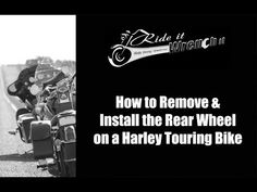How to Remove and Install the Rear Wheel on a Harley Touring Bike. Parts were obtained from Get Lowered Cycles : http://www.getlowered.com/?utm_campaign=coschedule&utm_source=pinterest&utm_medium=This%20Lady%20Rides
