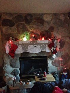 Fireplace decorated too