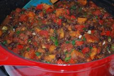 Quick Black Bean and Sweet Potato Chili Plant Strong