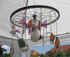 Windspiele aus Fahrrädern - Augsburger Fahrradblog mit Wityigen Ideen rund um die anderweitige Nutyung von Fahrradteilen