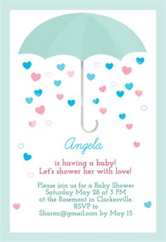 High Quality Shower With Love   Free Printable Baby Shower Invitation Template |  Greetings Island  Baby Shower Invite Template Free